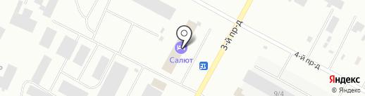 Салют на карте Ноябрьска