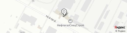 Ноябрьскнефтеспецстрой на карте Ноябрьска
