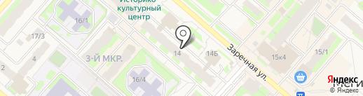 Мегионская городская больница №1 на карте Мегиона