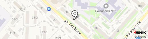 Ханты-Мансийский банк Открытие на карте Мегиона