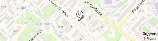 Розамаркет на карте Мегиона