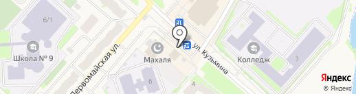 Магазин по продаже лепешек на карте Мегиона
