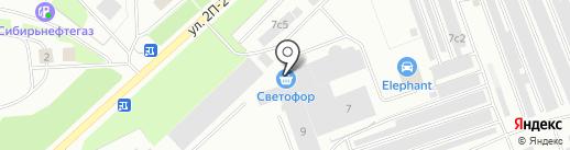 Магазин игрушек и хозяйственных товаров на карте Нижневартовска
