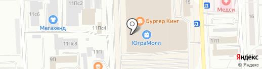 Югра-Cinema на карте Нижневартовска