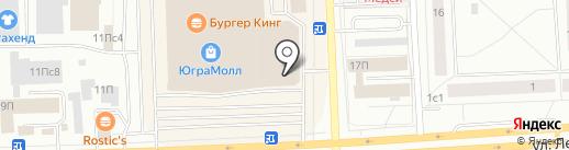 KFC на карте Нижневартовска
