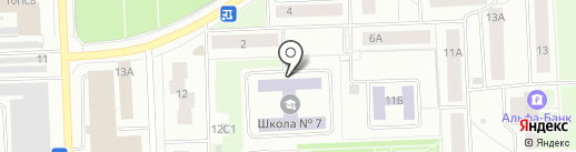 Средняя общеобразовательная школа №7 на карте Нижневартовска