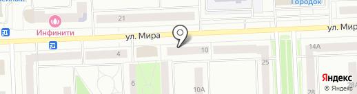 Лунный свет на карте Нижневартовска