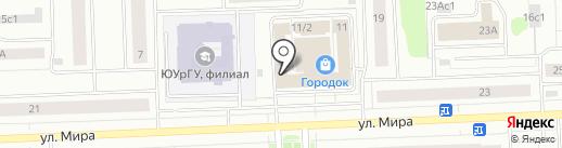 Блинная на карте Нижневартовска