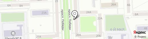 Новенький на карте Нижневартовска