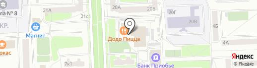 Константа-Мед на карте Нижневартовска