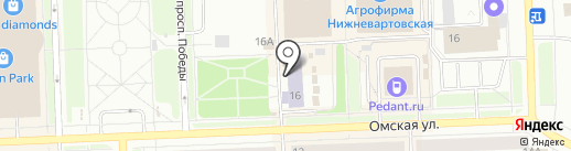 Региональный учебный центр-Нижневартовск, АНО ДПО на карте Нижневартовска