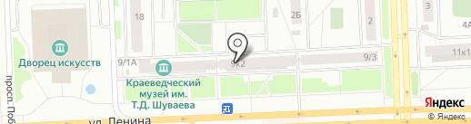 Мельница на карте Нижневартовска