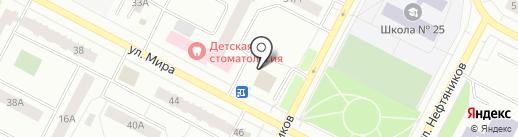 Выездная служба по ремонту и обивке мягкой мебели на карте Нижневартовска