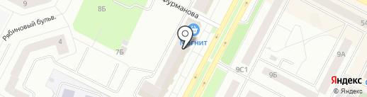 Золотой бычок на карте Нижневартовска