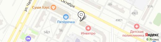 Зенит на карте Нижневартовска