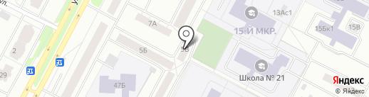 Продовольственный магазин на карте Нижневартовска