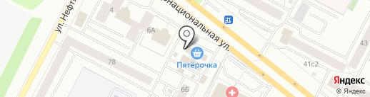Мериса на карте Нижневартовска