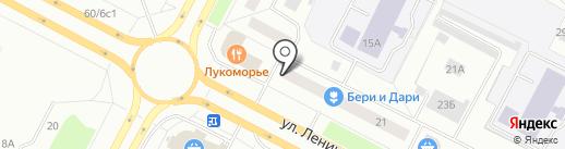 Магазин тканей на карте Нижневартовска