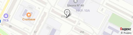 Рыжий кот на карте Нижневартовска