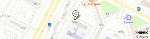Самотлор на карте Нижневартовска