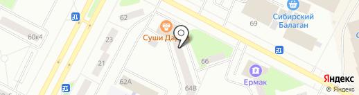 Жанна на карте Нижневартовска
