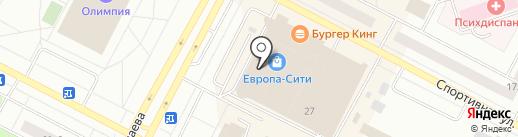 Цветной на карте Нижневартовска