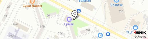 Банкомат, Банк Ермак на карте Нижневартовска