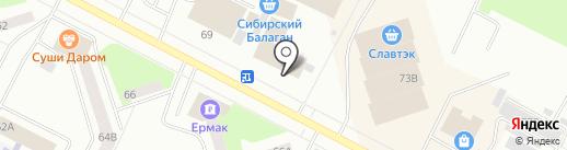 Белая лилия на карте Нижневартовска