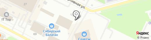 Амина на карте Нижневартовска