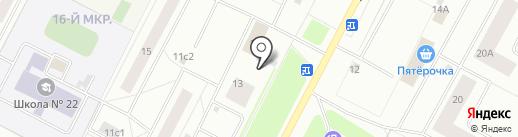 Шихан на карте Нижневартовска