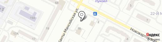 Цех 86 на карте Нижневартовска