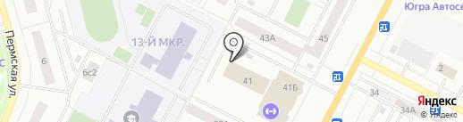 Крытый теннисный корт им. Л.Н. Голованова на карте Нижневартовска