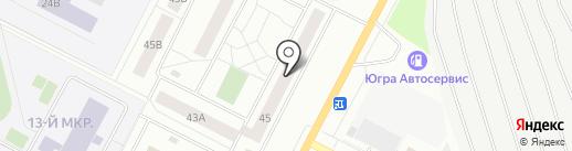 Ремонтная мастерская на карте Нижневартовска