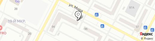 Белая корова на карте Нижневартовска