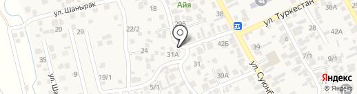 Диляра на карте Райымбека
