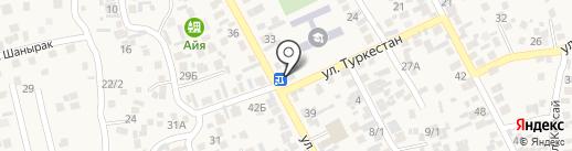Береке на карте Райымбека