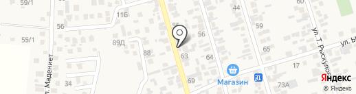Жаныс на карте Абая