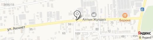 Береке на карте Иргелей
