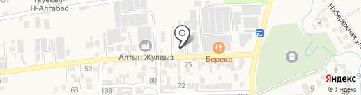 Айдана на карте Иргелей