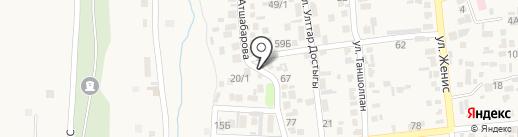 Жумабай на карте Коксая