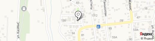 Дәм на карте Коксая