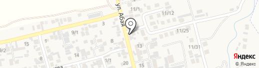 Ак-шат на карте Абая