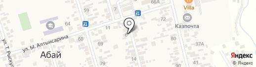 Алуа и К на карте Абая