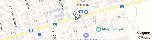 Стоматология на ул. Азербаева на карте Абая