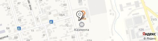 Почтовое отделение связи с. Абай на карте Абая