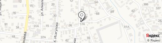 Бекарыстан на карте Иргелей
