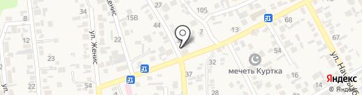 Баня на карте Коксая