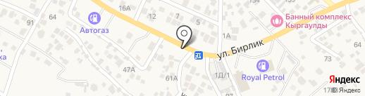 Бек-ай на карте Кыргаулд