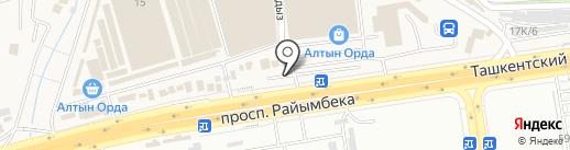 Автомойка, ТОО Туркiстан на карте Алматы