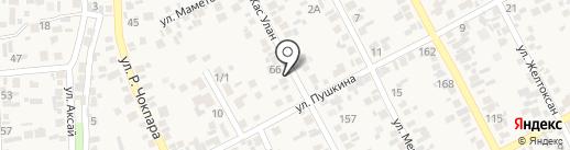 Яна на карте Коксая